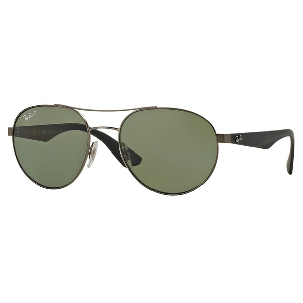65123b48ec Ray-Ban RB3536 029 9A Gunmetal Black Frame Polarized Green 55mm Lens  Sunglasses