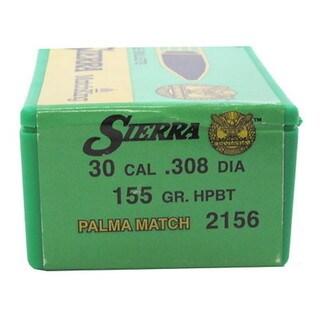 Sierra Bullets 30 Caliber 155gr Hollow Point Boattail Match Palma (Per 100)