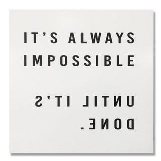 Wynwood Studio' Impossible' Plaque Art