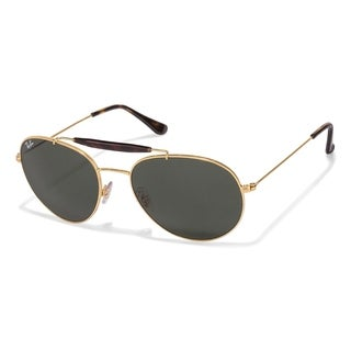 Ray-Ban RB3540 001 Gold Frame Green Classic 56mm Lens Sunglasses