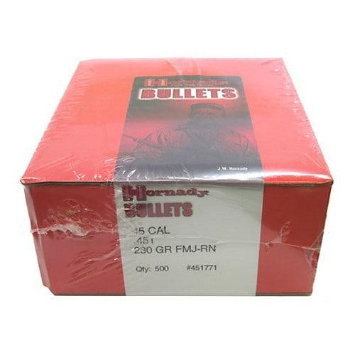Hornady 45 Caliber Bullets (.451) 230 Gr GMJ-RN/500