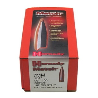 Hornady 7mm Bullets 162 Gr BTHP Match/100