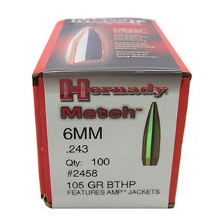 Hornady 6mm Bullets 105gr BTHP Match /100