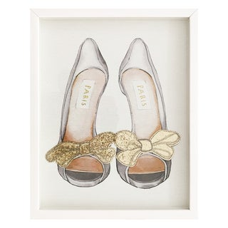 Wynwood Studio 'Gold Bows' Framed Art