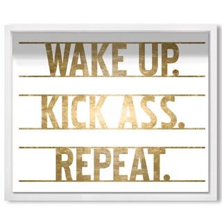 Wynwood Studio 'Kick Ass!' Framed Art