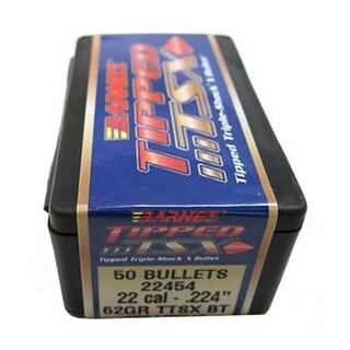 Barnes Bullets Triple-Shock X 22 Caliber, 62 Grain, Boat Tail Spitzer, Per 50