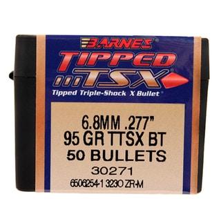 Barnes Bullets Triple-Shock X 6.8mm, 95 Grain, Tipped  Spitzer Boat Tail, Per 50