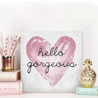 Gorgeous Salute Rose' Pink Metallic Canvas Art