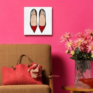 Lovely Lady Slippers' Red Glitter Canvas Art