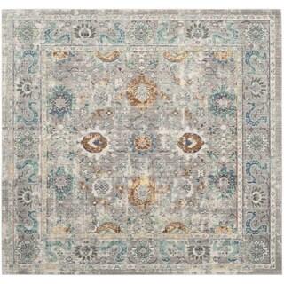 Safavieh Mystique Oriental Grey Multi Silky Rug (6' 7 Square)