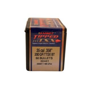 Barnes Bullets Triple-Shock X 35 Caliber, 200 Grain,Tipped Spitzer Boat Tail, Per 50
