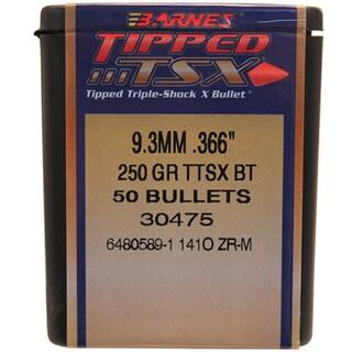 Barnes Bullets Triple-Shock X 9.3mm, 250 Grain, Tipped  Spitzer Boat Tail, Per 50