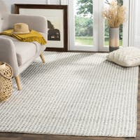 Safavieh Natura Hand-Woven Wool / Bamboo Silk Ivory / Silver Area Rug (6' Square)