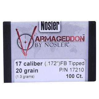 Nosler 17 Caliber Bullets Varmageddon, 20 Grains, Tipped Flat Base, Per 100
