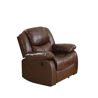 Acme Furniture Fullerton Brown Bonded Leather Match Recliner