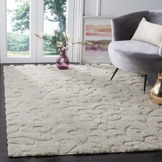 Safavieh Florida Ultimate Shag Cream Shag Rug (6' 7 Square)
