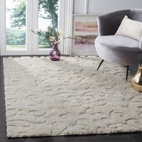 Safavieh Florida Ultimate Shag Cream Shag Rug - 6' 7 Square