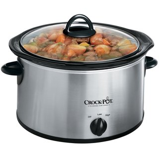 Crock-Pot Stainless Steel 4 quart Round Slow Cooker