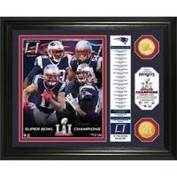 Super Bowl 51 Champions Banner Bronze Coin Photo Mint