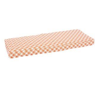 Perry Wavy Orange Indoor/ Outdoor Corded Bench Cushion