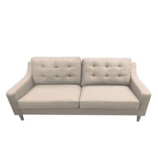 DG Casa Oxford Mid Century Grey Fabric Sofa (Beige)