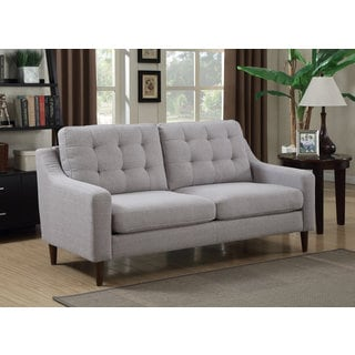 DG Casa Oxford Mid Century Grey Fabric Sofa