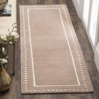 Safavieh Bella Contemporary Handmade Beige / Ivory Wool Runner - 2'3 x 7'