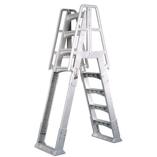 VinylWorks White Resin A-frame Ladder With Barrier