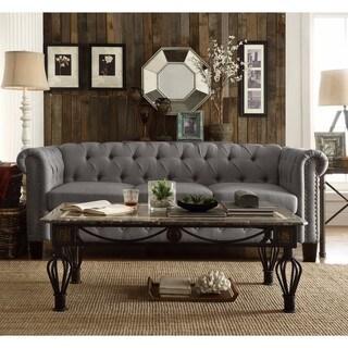 DG Casa Southampton Grey Wood/Fabric Sofa