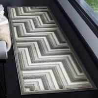Safavieh Cottage Dark Grey / Light Grey Area Rug Runner - 2'3 x 8'