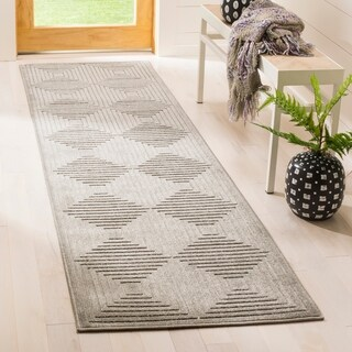 Safavieh Cottage Light Grey / Grey Area Rug Runner (2'3 x 8')