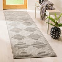 Safavieh Cottage Light Grey / Grey Area Rug Runner - 2'3 x 8'
