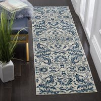 Safavieh Evoke Vintage Ivory / Blue Distressed Runner (2' 2 x 7')