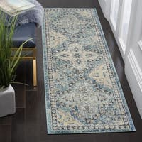 Safavieh Evoke Vintage Light Blue/ Ivory Distressed Runner (2' 2 x 9')
