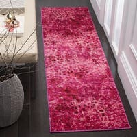 Safavieh Monaco Abstract Watercolor Fuchsia Distressed Runner Rug - 2'2 x 6'