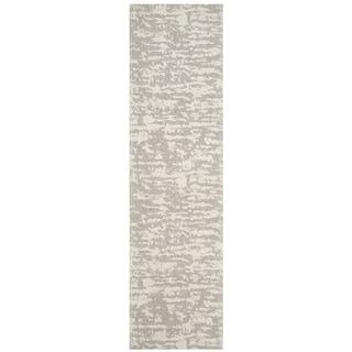 Safavieh Hand-Woven Marbella Flatweave Light Grey / Ivory Chenille Runner (2' x 8')