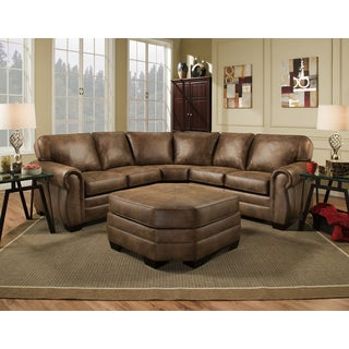 Simmons Upholstery Shiloh Sectional with Ottoman