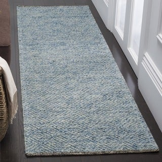 Safavieh Hand-Woven Natura Southwestern Blue / Cotton Wool Runner (2' x 8')