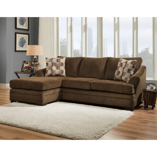 Shop Simmons Upholstery Albany Sofa Chaise Free Shipping Today