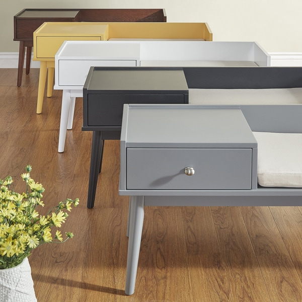 Modern Entry Bench: Shop Niklas 1-drawer Cushioned Entryway Bench INSPIRE Q