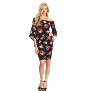 Women's Multicolored Floral Fitted Dress