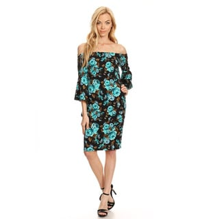 Women's Multicolor Floral Fitted Dress