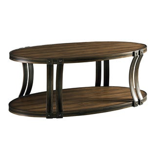 Huntington Brown Wood Cocktail Table