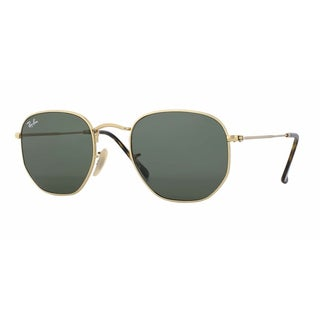 b3bcd8d6d4 Shop Ray-Ban RB3548N 001 Hexagonal Flat Gold Frame Green Classc 51mm ...