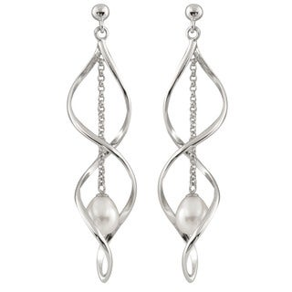 Sterling Silver and Freshwater Pearl Chandelier Earrings