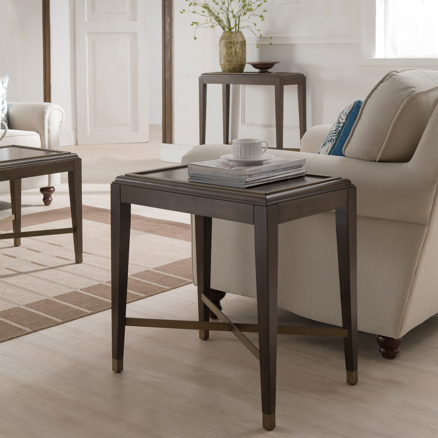 - Shop Contemporary Brown Finish Narrow Accent Table - Overstock