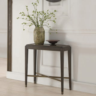 Contemporary Brown finish Entraway Console Table