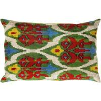 Pasargad Multicolored Turkish Velvet Ikat Pillow