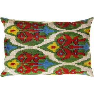 Pasargad Multicolored Turkish Velvet Ikat Pillow