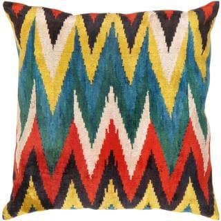 Pasargad Velvet Multi Ikat 23-inch Turkish Pillow